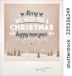 vintage christmas greeting card ... | Shutterstock .eps vector #235336249