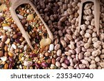 scoops of mixed pulses on a... | Shutterstock . vector #235340740