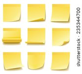 yellow sticky notes isolated on ... | Shutterstock .eps vector #235344700