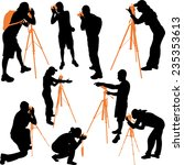 photographers silhouettes  ... | Shutterstock .eps vector #235353613
