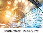 modern glass staircase... | Shutterstock . vector #235372699
