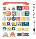 shopping sale banner flat... | Shutterstock .eps vector #235375654
