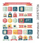 shopping sale banner flat... | Shutterstock .eps vector #235375726