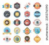 shopping badge flat design... | Shutterstock .eps vector #235376590