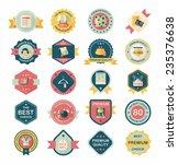 shopping badge flat design... | Shutterstock .eps vector #235376638