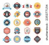 shopping badge flat design... | Shutterstock .eps vector #235377154