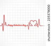 valentine greeting with... | Shutterstock .eps vector #235378000