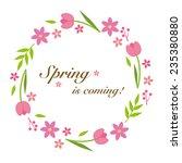 spring flower wreath | Shutterstock .eps vector #235380880