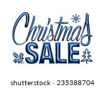 christmas sale design template... | Shutterstock . vector #235388704
