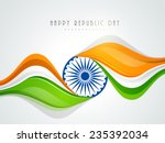 beautiful national flag color... | Shutterstock .eps vector #235392034