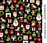 christmas seamless pattern of... | Shutterstock .eps vector #235396930
