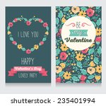 invitation for valentine's day... | Shutterstock .eps vector #235401994