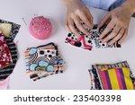fashion design  close up | Shutterstock . vector #235403398