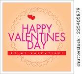 vector happy valentines day... | Shutterstock .eps vector #235405879