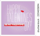 vector happy valentines day... | Shutterstock .eps vector #235405894