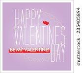 vector happy valentines day... | Shutterstock .eps vector #235405894
