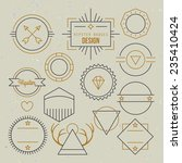hipster outline badges and... | Shutterstock .eps vector #235410424