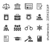 set of black and white law and... | Shutterstock .eps vector #235413169