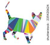 vector origami cat triangle... | Shutterstock .eps vector #235420624