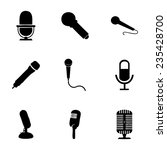 vector microphone icons set on... | Shutterstock .eps vector #235428700