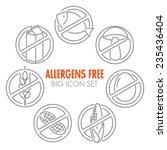 vector icons set for allergens... | Shutterstock .eps vector #235436404