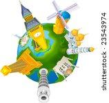 world travel isolated on white... | Shutterstock .eps vector #23543974