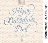 happy valentine's day  ... | Shutterstock .eps vector #235443784