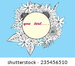 flower circle fro text  spring... | Shutterstock .eps vector #235456510