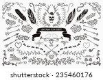 hand drawn doodle floral design ...   Shutterstock .eps vector #235460176
