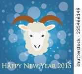 happy new year  year of sheep ... | Shutterstock .eps vector #235466149