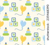 seamless pattern for newborn... | Shutterstock . vector #235468390