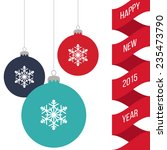new year card | Shutterstock .eps vector #235473790