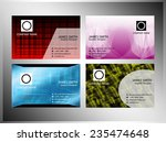 abstract business card design... | Shutterstock .eps vector #235474648