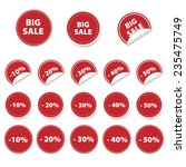 set of red sale stickers | Shutterstock .eps vector #235475749