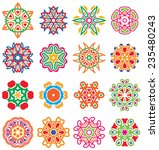 set of stylized images of... | Shutterstock .eps vector #235480243