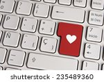 spanish keyboard with love... | Shutterstock . vector #235489360