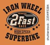 racing biker typography  t...   Shutterstock .eps vector #235495384