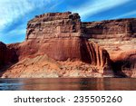 Red Sandstone Cliff Reaches Fo...