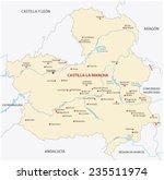 castilla la mancha map | Shutterstock .eps vector #235511974