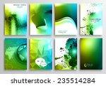 set of flyer design  web...