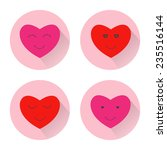 heart smile face icon. design... | Shutterstock .eps vector #235516144
