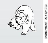 vector illustration  polar bear | Shutterstock .eps vector #235524313