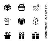 vector gift  icons set on white ... | Shutterstock .eps vector #235525144