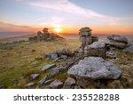 Sunset Staple Tor Dartmoor...