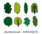 green trees set | Shutterstock .eps vector #235533670