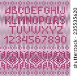 classic knitted alphabet with... | Shutterstock .eps vector #235535620