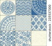 seamless background  patchwork... | Shutterstock .eps vector #235537300