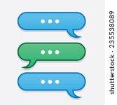 text messages bubbles going... | Shutterstock .eps vector #235538089