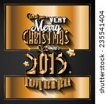 2015 new year and happy... | Shutterstock . vector #235541404