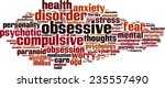 Obsessive Word Cloud Concept....